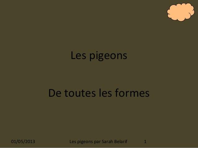Les pigeonsDe toutes les formes01/05/2013 1Les pigeons par Sarah Belarif