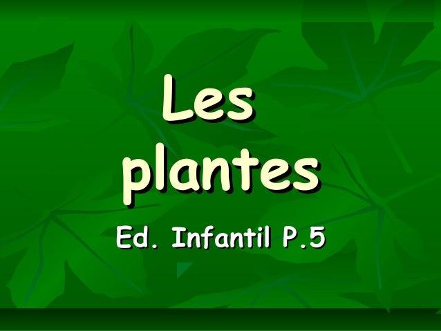 LesLesplantesplantesEd. Infantil P.5Ed. Infantil P.5