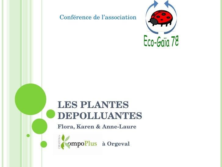 LES PLANTES DEPOLLUANTES Flora, Karen & Anne-Laure à Orgeval Conférence de l'association