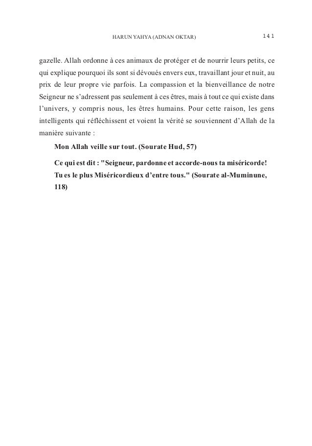 Les preuves de devouement dans le regne animal revelent l'œuvre d'allah. french. français