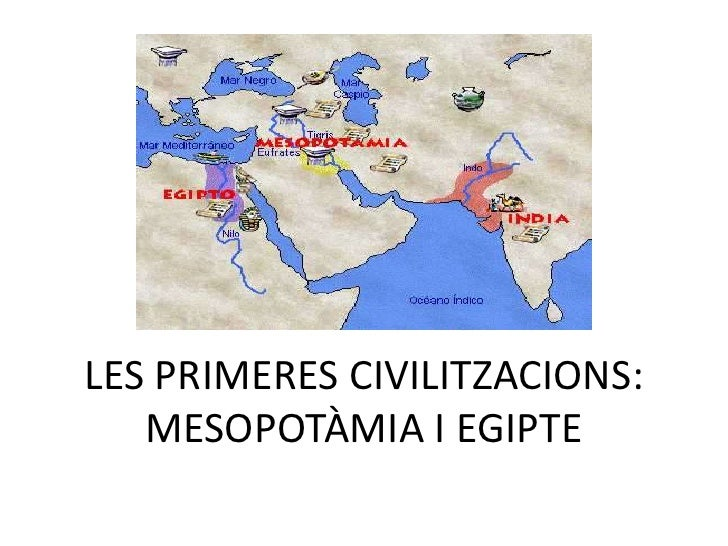 LES PRIMERES CIVILITZACIONS:   MESOPOTÀMIA I EGIPTE
