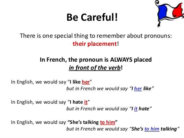 Les Pronoms / Object Pronouns