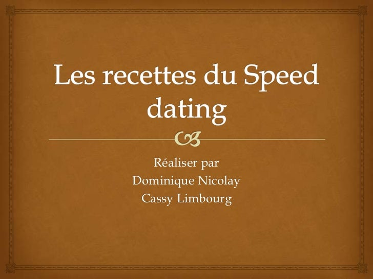 speed dating games2win datování důvěrné CBC
