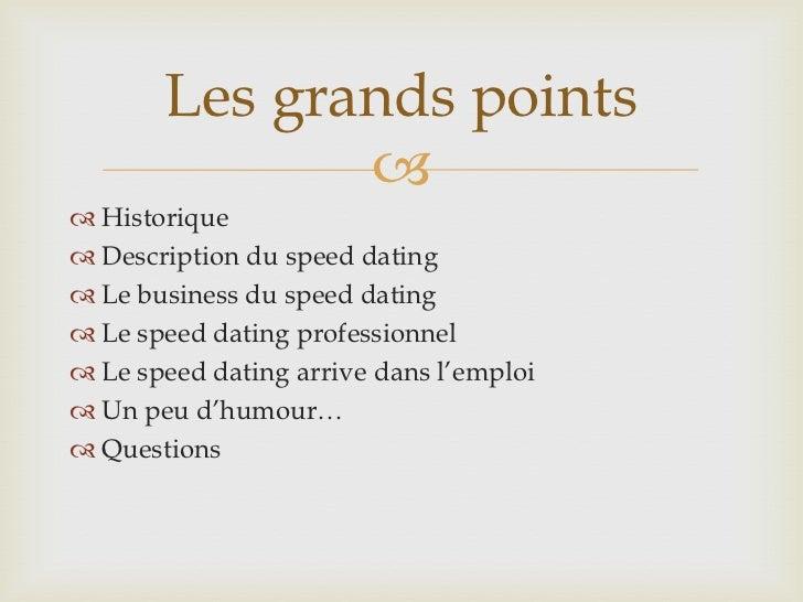 Rgles du speed dating