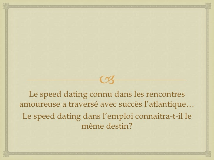 L'embrouille speed dating homme