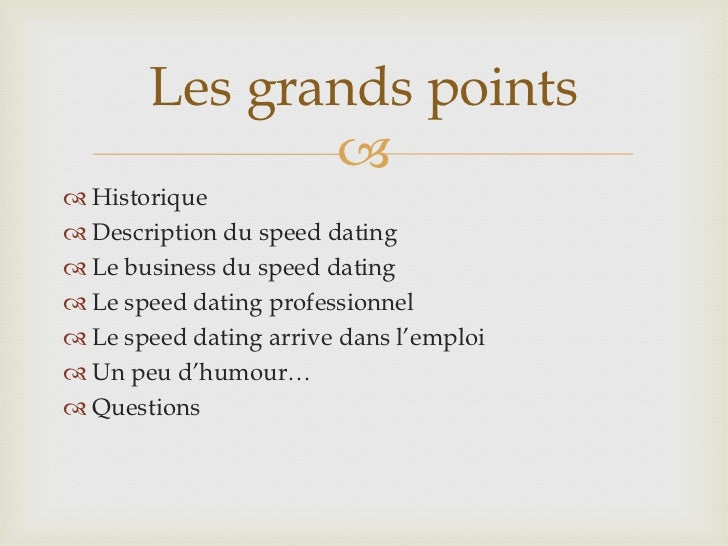 Speed dating sur internet