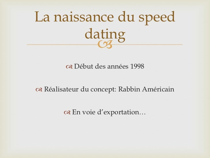 Speed dating sur le net