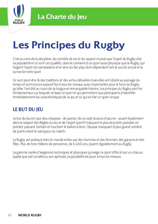 Exceptionnel Les règles du jeu 2017 (rugby à xv) KE21