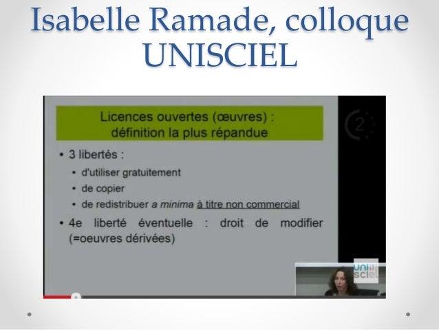 Isabelle Ramade, colloque UNISCIEL