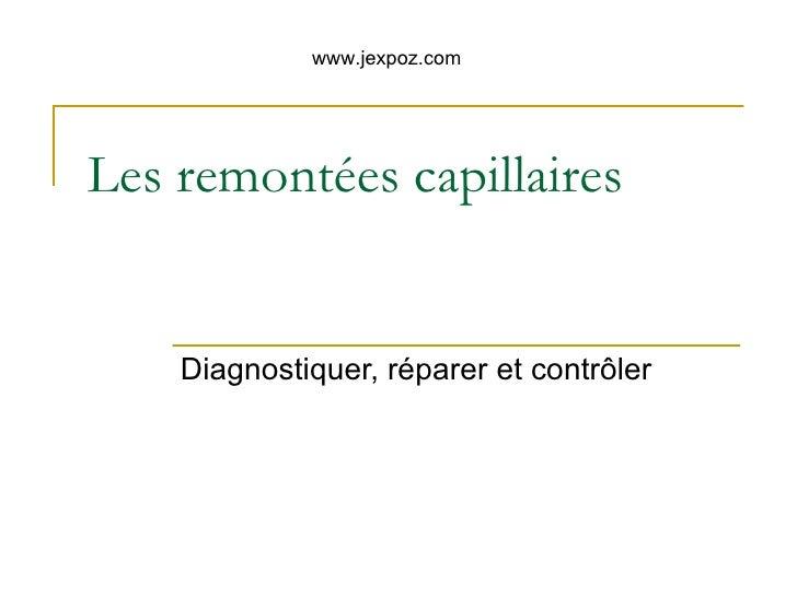 Les remont es capillaires - Rubson remontees capillaires ...