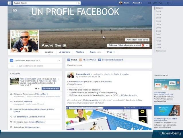 Les 10 commandements FB 1. Pas de profil pour une entreprise ! 2. Une page n'est pas un canal de pub 3. N'automatisez pas ...