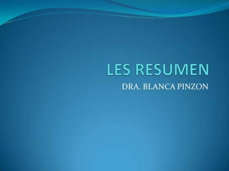 DRA. BLANCA PINZON