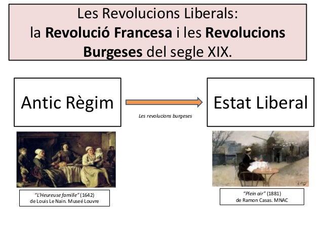 Les Revolucions Liberals: la Revolució Francesa i les Revolucions Burgeses del segle XIX. Antic Règim Estat LiberalLes rev...