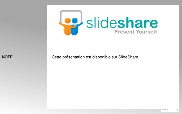 Cette présentation est disponible sur SlideShare<br />NOTE<br />
