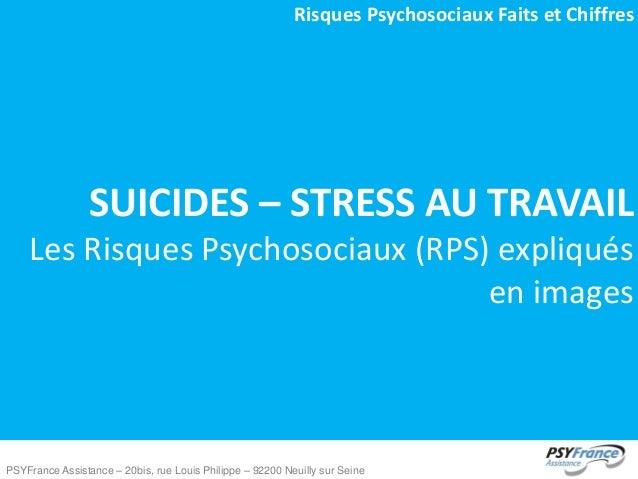 Risques Psychosociaux Faits et Chiffres  SUICIDES – STRESS AU TRAVAIL Les Risques Psychosociaux (RPS) expliqués en images ...