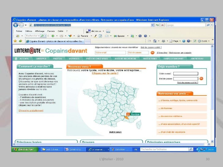 Internet et les Français en 2010<br />Au total, lorsqu'on tient compte de l'ensemble des modes de connexion à Internet, on...