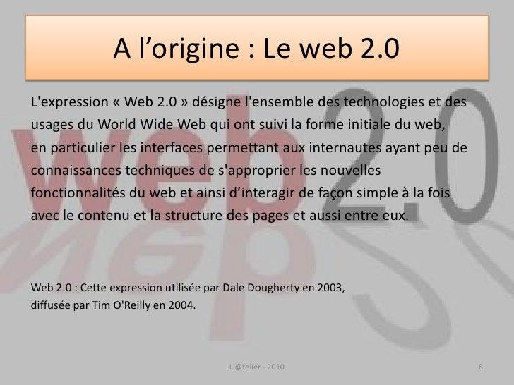 Le web 2.0 en résumé</li></ul>3.. Les réseaux sociaux<br /><ul><li>Les réseaux sociaux?