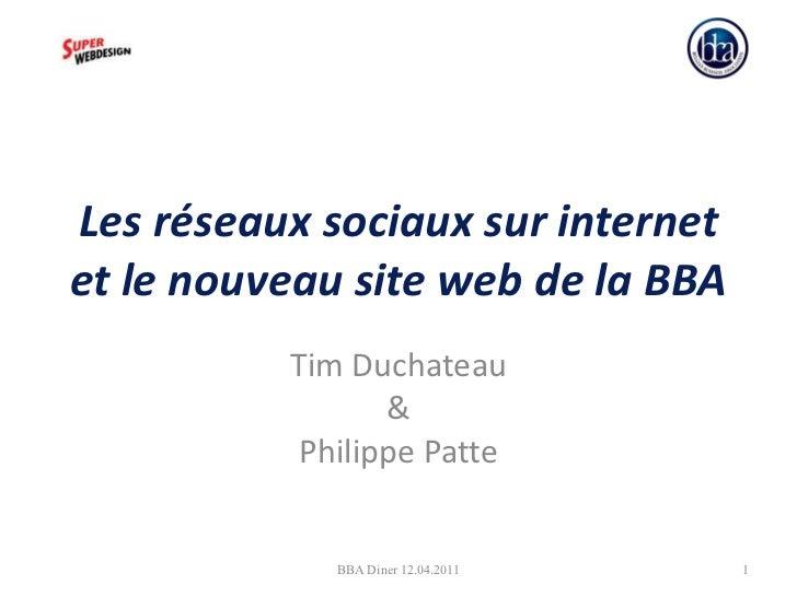 Les réseaux sociaux sur internet et le nouveau site web de la BBA Tim Duchateau & Philippe Patte