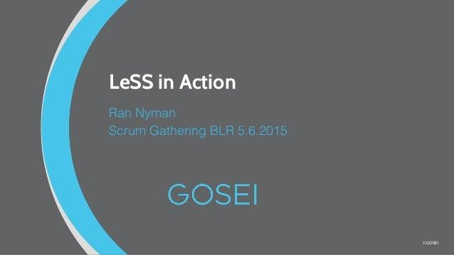© GOSEI LeSS in Action Ran Nyman Scrum Gathering BLR 5.6.2015