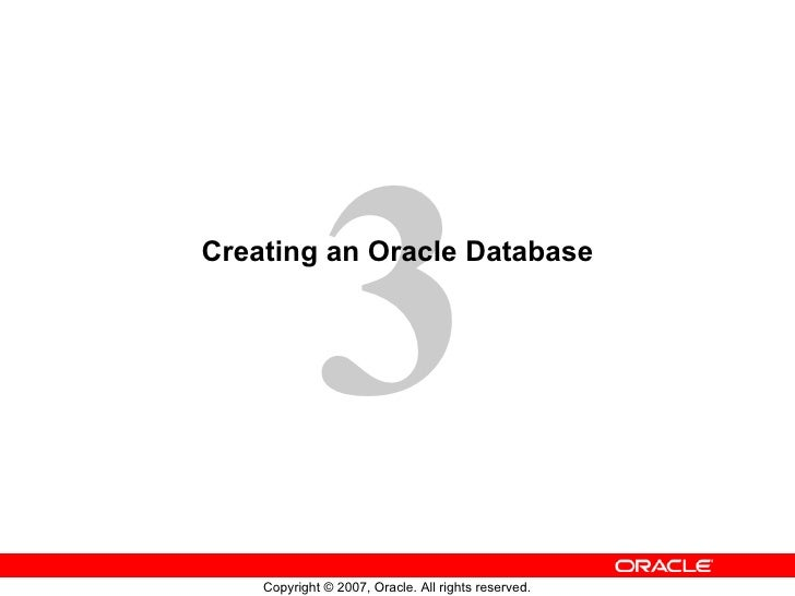 Creating an Oracle Database