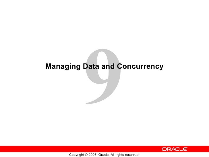 Managing Data and Concurrency