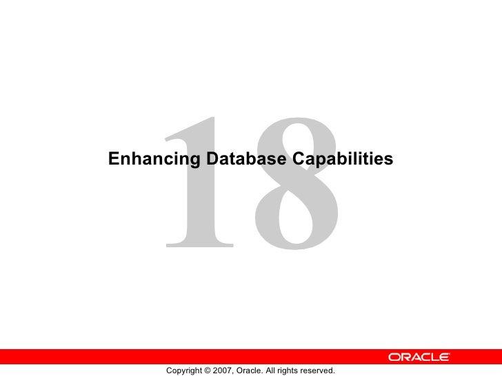 Enhancing Database Capabilities