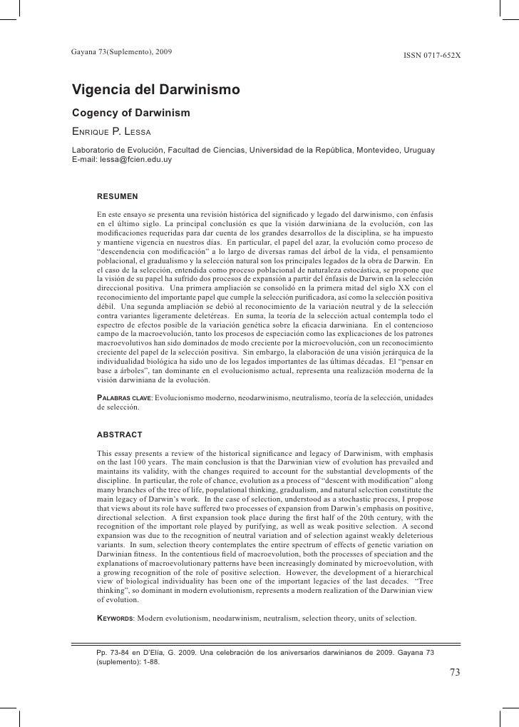 Gayana 73(Suplemento), 2009                                                                           ISSN 0717-652X    Vi...