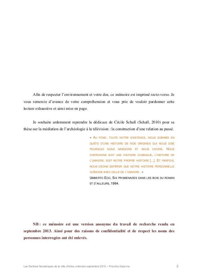 Les Sentiers Numeriques De La Ville D Arles Memoire Master Priscill