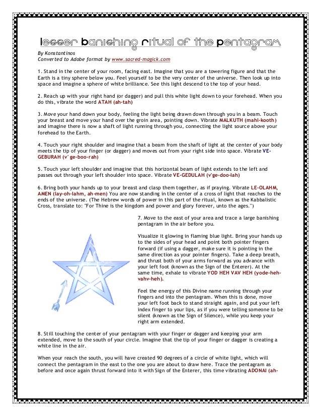 Banishing ritual of the lesser pentagram pdf file