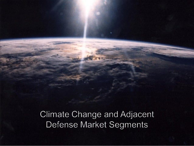 AgendaI. What drives climate change investmentII. Strategy analysis example: Capitalizing on the climate change mega trend...