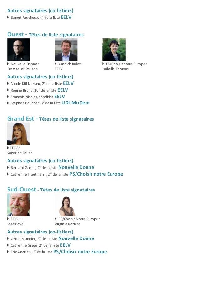 Autres  signataires  (co-‐listiers)     Benoît  Faucheux,  4e   de  la  liste  EELV         Oue...