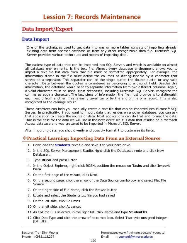 Lecturer: Tran Dinh Vuong Home page: www.fit.vimaru.edu.vn/~vuongtdPhone : 0982.113.274 Email : vuongtd@vimaru.edu.vn120Le...