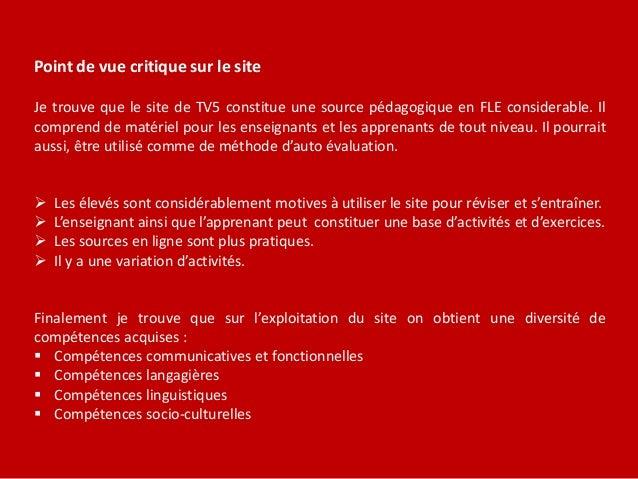 Les différents contenus du site  Découvrir le français – dictionnaire, jeux de lettres, articles sur la francophonie  Ap...
