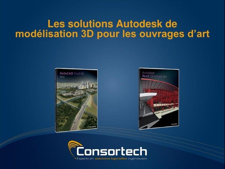 Les solutions Autodesk demodélisation 3D pour les ouvrages d'art
