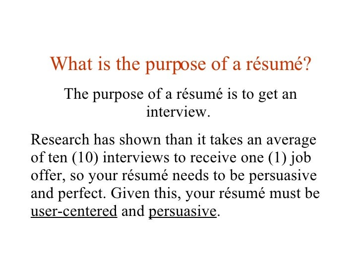 Amazing 3. What Is The Purpose Of A Résumé? To The Purpose Of A Resume
