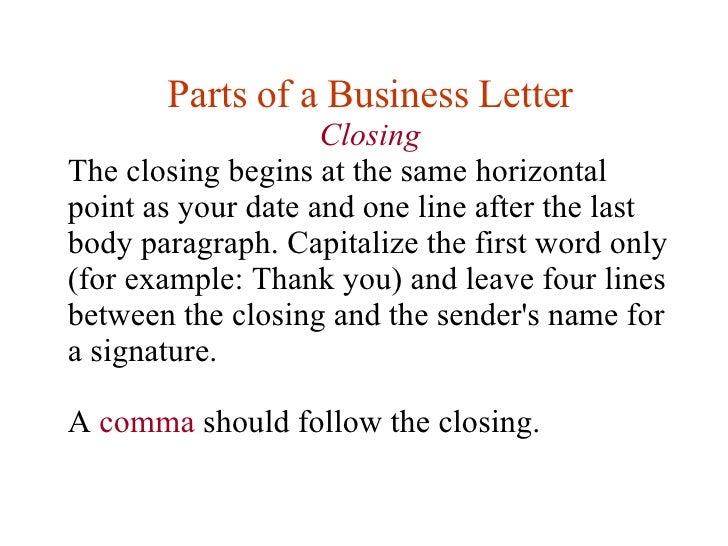 Business letter closing idealstalist business letter closing spiritdancerdesigns Images