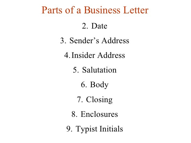 format for writing a business letter