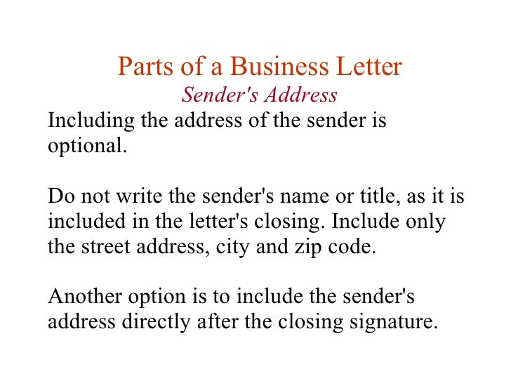 Lesson 11 Writing Business Letters