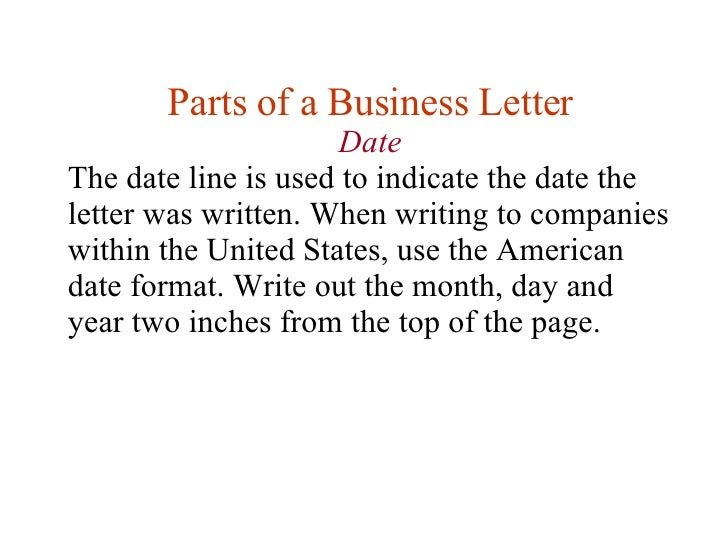 Lesson 11 writing business letters date 8 spiritdancerdesigns Images