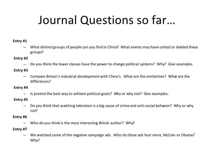 Journal Questions so far… <ul><li>Entry #1 </li></ul><ul><ul><li>What distinct groups of people can you find in China?  Wh...