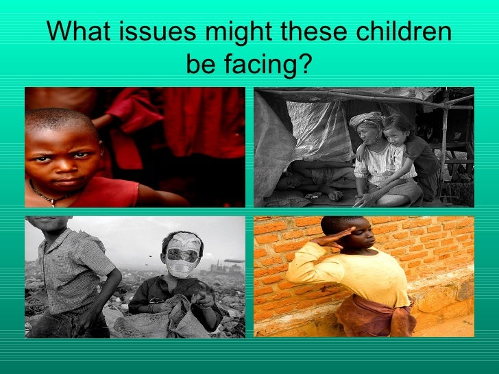 What issues might these children be facing?