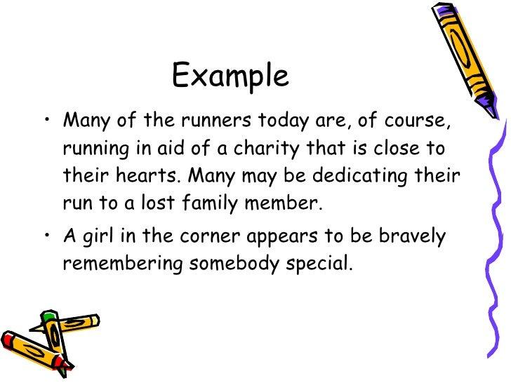 descriptive language about running