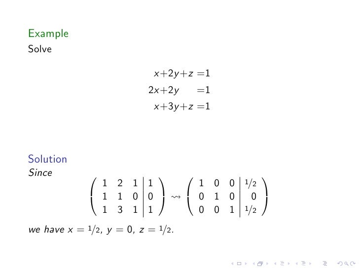 Lesson 13: Rank and Solutions to Systems of Linear Equations