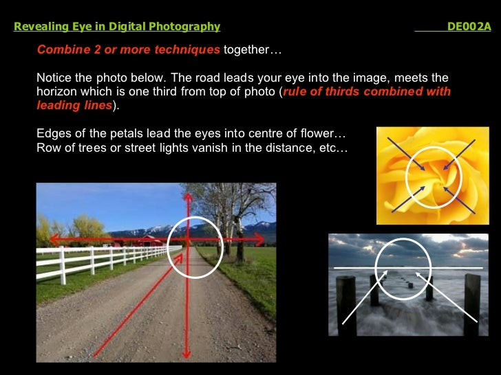 Revealing Eye in Digital Photography   DE002A Combine   2 or more techniques  together… Notice the photo below. The road l...
