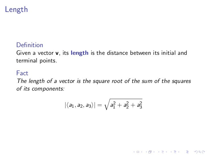 lesson 2: vectors and the dot product  slideshare