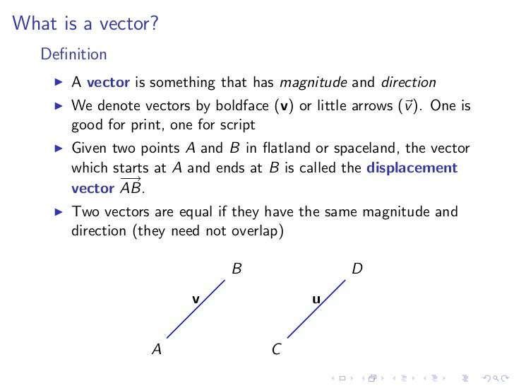 Lesson 2: Vectors and the Dot Product