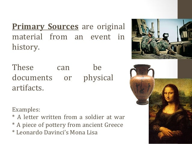 how historians use primary sources