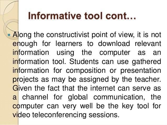 EdTech2 Lesson 11: The Computer as Teacher's Tool
