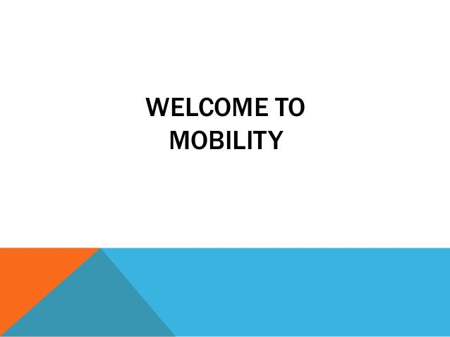 WELCOME TOMOBILITY
