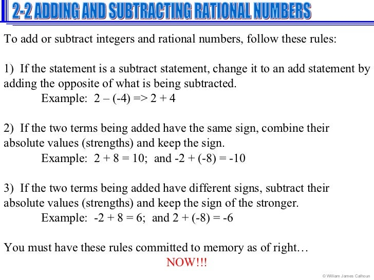 Adding Subtracting Rational Numbers Worksheet math 7 common core – Rules for Adding and Subtracting Integers Worksheet